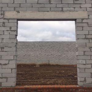 """г. Пермь, Героев Хасана, 105. Строительство складских помещений. Внешние стены из газобетона """"Бетарм"""""""